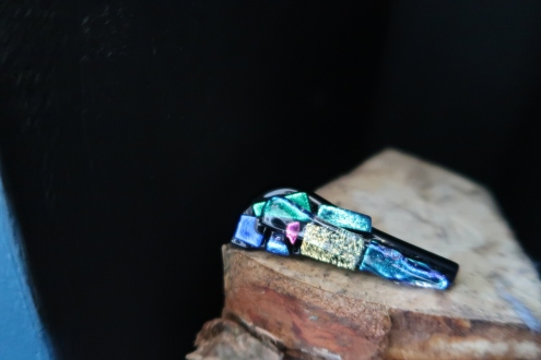 Brooch from the Canal Boat Festival - credit to The Glass Barge